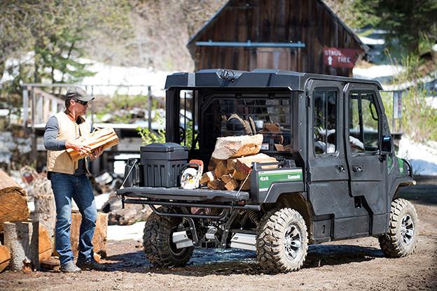 UTV hauling wood