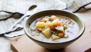goat's milk potato soup