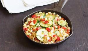 corn zucchini skillet