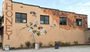 Matthew Willey honeybee mural