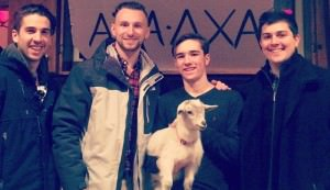 college goat and frat boys